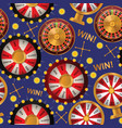 fortune wheel seamless pattern spin game vector image vector image