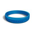 friends - blue plastic wristband vector image