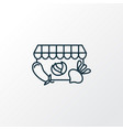 grocery store icon line symbol premium quality vector image