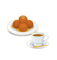 gulab jamun vector image vector image