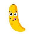 happy banana emoticon vector image vector image