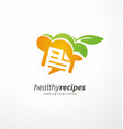 healthy recipes cooking inspiration creative logo vector image vector image