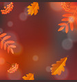 hello autumn poster vector image vector image