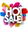 hot sale poster with brush strokes vector image vector image
