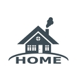 House abstract real estate countryside vector image
