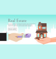house rent banner home selection building buying vector image vector image