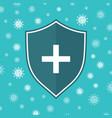 icon shield anti virus system shield immune vector image
