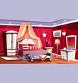 interior rich bedroom luxurious room vector image vector image