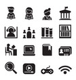 library icon symbol set vector image vector image