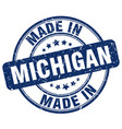 made in michigan vector image vector image