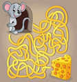 maze 1 with mouse and cheese vector image