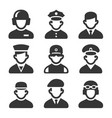military soldier avatars set on white background vector image vector image