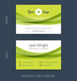 modern creative business card template Flat design vector image vector image