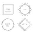Mono line frames elegant design elements badges vector image vector image
