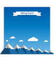Mountaineering Event vector image vector image