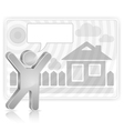 new house vector image vector image