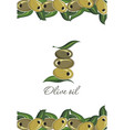olive symbol vector image vector image