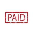 paid rubber stamp vector image vector image