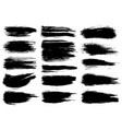 paint brush black ink grunge brush strokes vector image