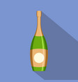 party champagne icon flat style vector image vector image