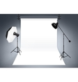 Photo studio background vector image vector image