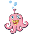 pink octopus vector image vector image