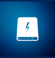 power bank icon isolated on blue background vector image vector image