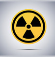 radiation warning symbol nuclear alert sign icon vector image