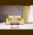 realistic interior image vector image