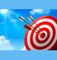 realistic target composition vector image vector image