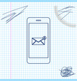 received message concept new email notification vector image vector image