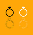 ring set black and white icon vector image