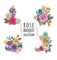 rose bouquet collections vector image