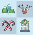 set christmas decoration design to celebration vector image