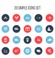 set of 20 editable complex icons includes symbols vector image vector image