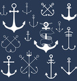 Set of anchors vector image