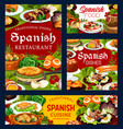 spanish cuisine food restaurant dishes vector image vector image