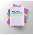 Stack of blank books top view vector image vector image