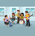 students in music class vector image vector image