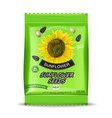 sunflower seeds package realistic isolated vector image vector image