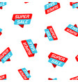 super sale banner badge icon seamless pattern vector image vector image