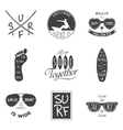 Surfer set Vintage elements and labels