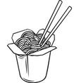 takeaway carton wok box vector image vector image