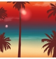 Travel Backgrounds with Palm Trees Exotic vector image
