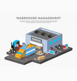 warehouse management isometric business banner vector image