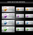 web element vector image vector image