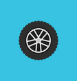 wheel flat symbol or icon rim sign on blue vector image vector image