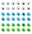 White blue and green navigation buttons set vector image vector image