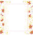 white plum blossom flower banner card border vector image vector image