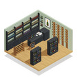 wine shop isometric composition vector image